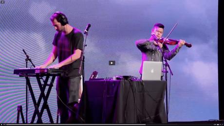 Yeuda and Paul open for NAMM keynote, Steve Wozniak, on January 24, 2015.