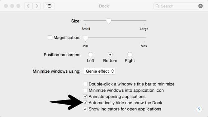 OSX Dock Hide