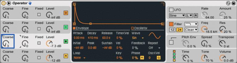low wide bass osc b coarse