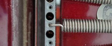 electric guitar back closeup